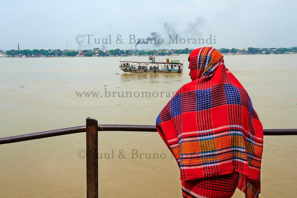 Inde, Bengale Occidental, Calcutta (Kolkata), riviere Hooghly // India, West Bengal, Kolkata, Calcutta, Hooghly River