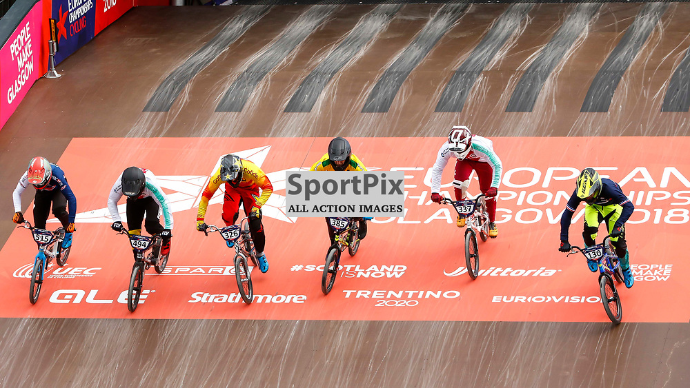 Racing gets underway in the BMX European Championships at the Glasgow BMX Centre