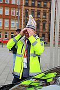 Mannheim. 10.02.18 | <br /> Närrische Bootsfahrt mit dem Mannheimer Stadtprinzenpaar Miriam I. und Marcus I. <br /> Danch kleiner Umzug mit Gefolge zum Mannheimer Marktplatz über die Planken zum Wasserturm mit Fahrt im Riesenrad.<br /> - KKM Präsident Thomas Dörner<br /> Bild: Markus Prosswitz 10FEB18 / masterpress (Bild ist honorarpflichtig - No Model Release!) <br /> BILD- ID 00090 |