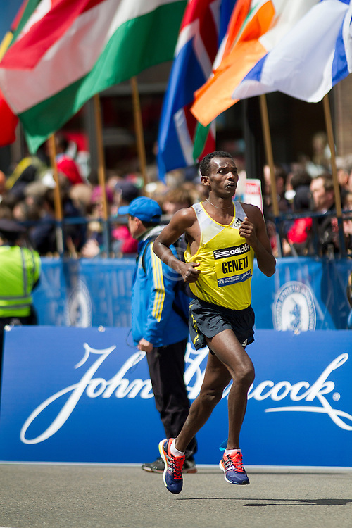 2013 Boston Marathon: Markus Geneti finishes