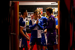 Bristol Rovers Under 18s line up in the tunnel at Swindon Town - Mandatory by-line: Robbie Stephenson/JMP - 29/10/2019 - FOOTBALL - County Ground - Swindon, England - Swindon Town v Bristol Rovers - FA Youth Cup Round One