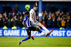 Chris Basham of Sheffield United takes on Rolando Aarons of Sheffield Wednesday - Mandatory by-line: Robbie Stephenson/JMP - 04/03/2019 - FOOTBALL - Hillsborough - Sheffield, England - Sheffield Wednesday v Sheffield United - Sky Bet Championship