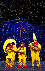 © Licensed to London News Pictures. 18/12/2012. London, England. Slava's Snowshow returns to the Royal Festival Hall in London from 17 December 2012 to 7 January 2013. Devised and directed by Slava Polunin. Photo credit: Bettina Strenske/LNP