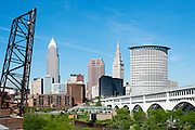 Cleveland West side Skyline shot from the Superior Viaduct on May 29, 2014.