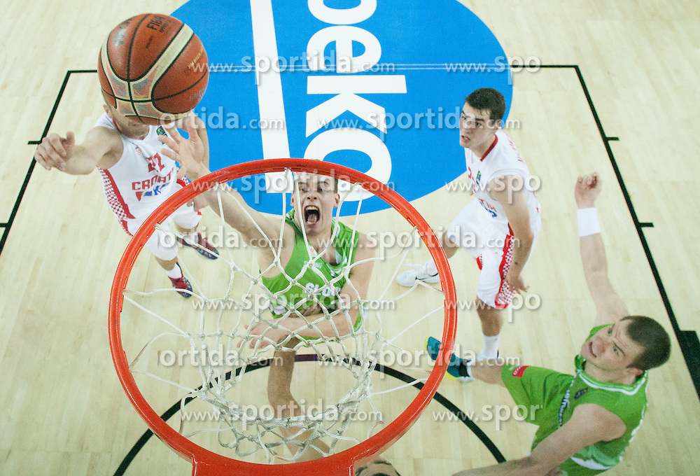 Klemen Prepelic of Slovenia during basketball match between Croatia and Slovenia at Day 1 in Group C of FIBA Europe Eurobasket 2015, on September 5, 2015, in Arena Zagreb, Croatia. Photo by Vid Ponikvar / Sportida