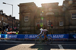 Lina Svarinska (LAT) at UCI Road World Championships 2019 Junior Women's TT a 13.7 km individual time trial in Harrogate, United Kingdom on September 23, 2019. Photo by Sean Robinson/velofocus.com