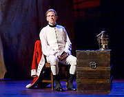 Our Country's Good <br /> by Timberlake Wertenbaker <br /> at the Olivier Theatre, National Theatre, Southbank, London, Great Britain <br /> press photocall <br /> 25th August 2015 <br /> <br /> Jason Hughes as 2nd Lieutenant Ralph Clark<br /> <br /> <br /> <br /> <br /> Photograph by Elliott Franks <br /> Image licensed to Elliott Franks Photography Services