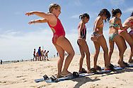 (Alcala de los Gazuelos, Spain - July 9, 2011) - Go campers go on their first excursion to the beach at Santi Petri. ..Photo by Will Nunnally / TECS