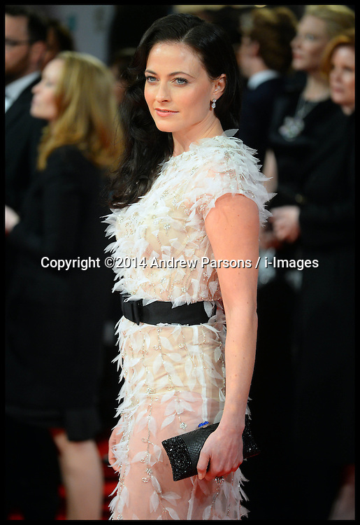 Laura Pulver arrives for the EE BRITISH ACADEMY FILM AWARDS 2014 (BAFTA) at the The Royal Opera House in Covent Garden . London, United Kingdom. Sunday, 16th February 2014. Picture by Andrew Parsons / i-Images
