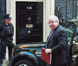 © Licensed to London News Pictures. 07/09/2015. Westminster, UK. Transport minister PATRICK MCLOUGHLIN arriving at 10 Downing Street on September 7, 2015. .  Photo credit: Ben Cawthra/LNP