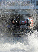 World Champion Jet Skier Jack Moule demonstrate his skills on a jet ski in the mariner at  The 2012 Boat Show at The ExCel centre in London on January 6th 2012..Photo Ki Price.