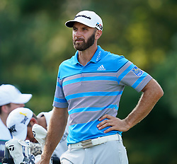 August 11, 2018 - St. Louis, Missouri, United States - Dustin Johnson wait on the tee during the third round of the 100th PGA Championship at Bellerive Country Club. (Credit Image: © Debby Wong via ZUMA Wire)