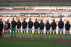 February 23, 2019 - Sheffield, England, United Kingdom - Arsenal team line up..during the FA Women's Continental League Cup Final football match between Arsenal Women and Manchester City Women at Bramall Lane on February 23, 2019 in Sheffield, England. (Credit Image: © Action Foto Sport/NurPhoto via ZUMA Press)