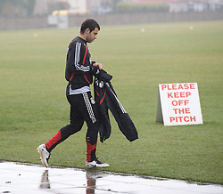 LIVERPOOL, ENGLAND - Friday, March 28, 2008: Liverpool's Javier Mascarano training at Melwood ahead of the Merseyside Derby match against Everton. (Photo by David Rawcliffe/Propaganda)