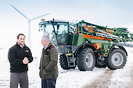 BASF Agronomist Charlie Catto & Hugh Gordon from Clauch Na Hill Farm, by Stonehaven. Contact: Niamh Tye.