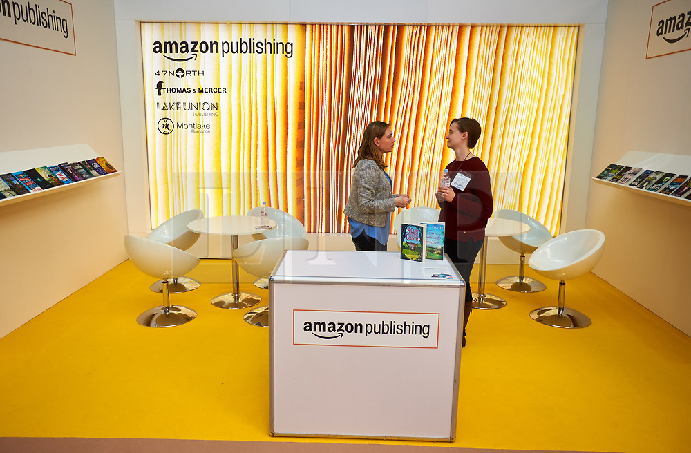 © Licensed to London News Pictures. 14/03/2017. LONDON, UK.  London Book Fair. In this picture: Amazon Publishing Stand. Photo credit: Cliff Hide/LNP
