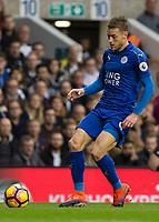 Football - 2016 / 2017 Premier League - Tottenham Hotspur vs. Leicester City<br /> <br /> Jamie Vardy of Leicester City at White Hart Lane.<br /> <br /> COLORSPORT/DANIEL BEARHAM