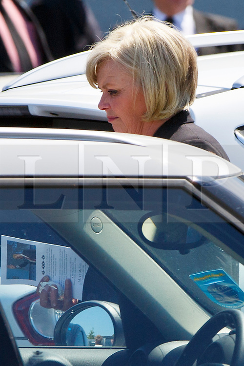 © Licensed to London News Pictures. 12/06/2015. Fort William, UK. Charles Kennedy's girlfriend Carole Macdonald,  attending the funeral of ex-Liberal Democrat leader at St John's Church in Caol, near his Fort William home in Scotland on Friday, June 12, 2015. Mr Kennedy died suddenly on June 1, 2015 at the age of 55 after suffering a major haemorrhage as a result of a long battle with alcoholism. Photo credit: Tolga Akmen/LNP
