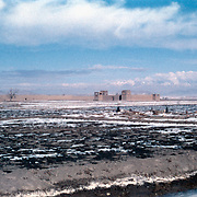 8 January 1963<br /> Kabul First Tajik Village LD X Across fields; graveyard on bank of Logar River; qala far distance - ND.