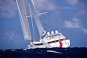 Mirabella V Sailing in the 2011 St. Barths Bucket Race 2.
