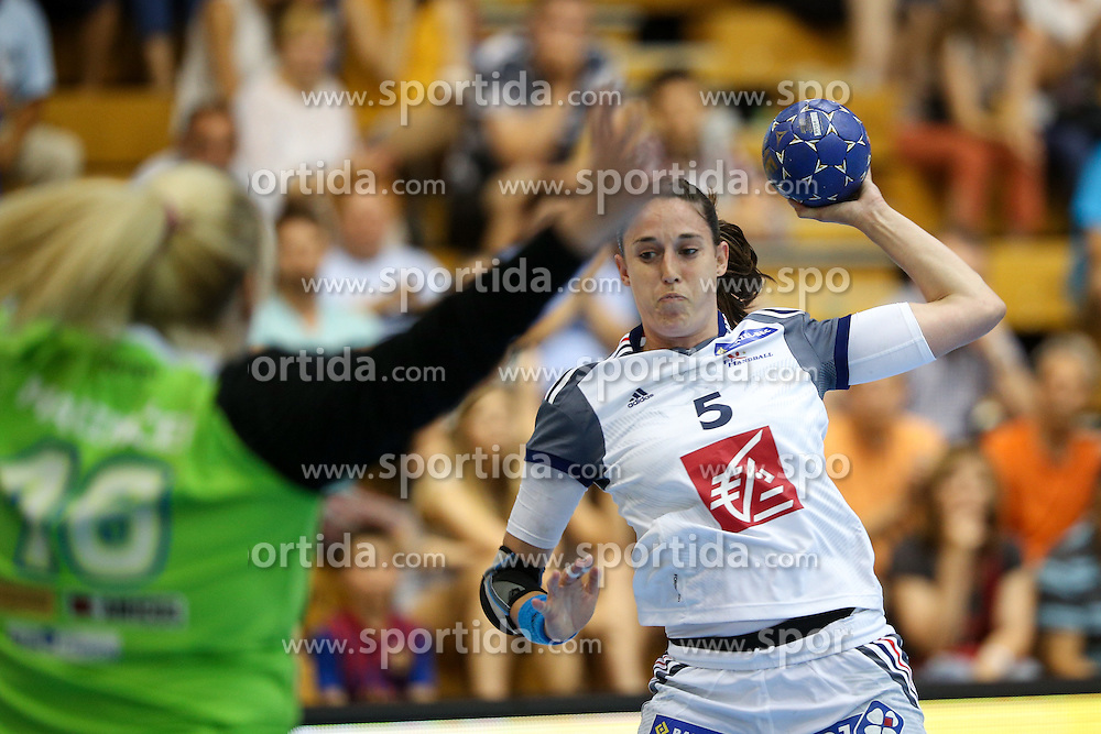 Camille Ayglon of France during handball match between National Teams of Slovenia and France in Qualification of 2016 Women's European Championship, on June 13th, in Rdeca Dvorana, Velenje. Photo by Morgan Kristan / Sportida
