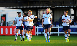 Kit Graham of Tottenham Hotspur Women scores a goal 1-2- Mandatory by-line: Nizaam Jones/JMP - 27/10/2019 - FOOTBALL - Stoke Gifford Stadium - Bristol, England - Bristol City Women v Tottenham Hotspur Women - Barclays FA Women's Super League