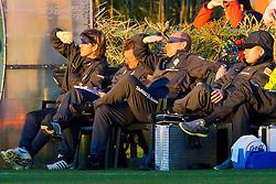 08.01.2011, IC Santai-Sportpark, Belek, TUR, SV Werder Bremen, vs MSV Duisburg im Bild  Michael Kraft ( Werder  - TW - Trainer ) Wolfgang Rolff ( Werder  - Co - Trainer  GER) Thomas Schaaf ( Werder  - Trainer  COACH) Dr. Götz Dimanski ( Goetz  ) ( Mannschaftsarzt ) nach dem 4:1  EXPA Pictures © 2011, PhotoCredit: EXPA/ nph/  Kokenge       ****** out of GER / SWE / CRO ******