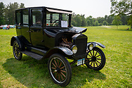 Old Westbury, New York, USA. June 2, 2019. A 1925 Model T Ford, owned by Scott Gramlich, of Baldwin, won two awards - Oldest Car and Best Model T - at the 53rd Annual Spring Meet Antique Car Show, sponsored by the Greater NY Region (NYGR) of the Antique Automobile Club of America (AACA), at Old Westbury Gardens, a Long Island Gold Coast estate.