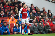 Arsenal defender Hector Bellerin (24) during the Premier League match between Arsenal and Stoke City at the Emirates Stadium, London, England on 1 April 2018. Picture by Toyin Oshodi.