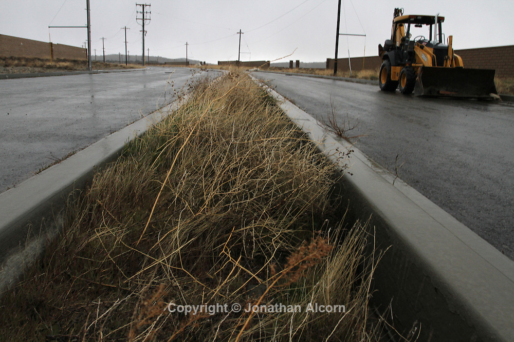 Suncal's 10,000 acre Ritter Ranch development, which has been stalled after the Lehman Bankruptcy, stands idle in Palmdale, California, U.S., on Saturday, Feb. 19, 2011.