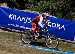 Celine Gros (FRA) of Elite Women category at MTB Downhill European Championships, on June 14, 2009, at Kranjska Gora, Slovenia. (Photo by Vid Ponikvar / Sportida)