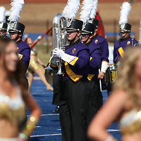 The University of North Alabama performed an exhibition Saturday for attendees of the marching band competition