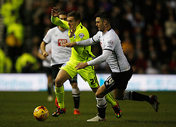 Jason Shackell of Derby County (R) and James Wilson of Brighton & Hove Albion in action - Mandatory byline: Jack Phillips / JMP - 07966386802 - 12/12/2015 - FOOTBALL - The iPro Stadium - Derby, Derbyshire - Derby County v Brighton & Hove Albion - Sky Bet Championship