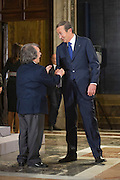 Rome dec 21th 2015, traditional Christmas greetings at Presidential Palace. In the picture Renato Brunetta, Gianfranco Fini
