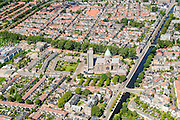 Nederland, Noord-Holland, Haarlem, 01-08-2016; overzicht  Haarlem, Leidsevaart en Leidsebuurt, Kathedraal Sint Bavo.<br /> City centre Haarlem, overview.<br /> luchtfoto (toeslag op standard tarieven);<br /> aerial photo (additional fee required);<br /> copyright foto/photo Siebe Swart