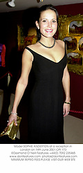 Model SOPHIE ANDERTON at a reception in London on 14th June 2001.<br />