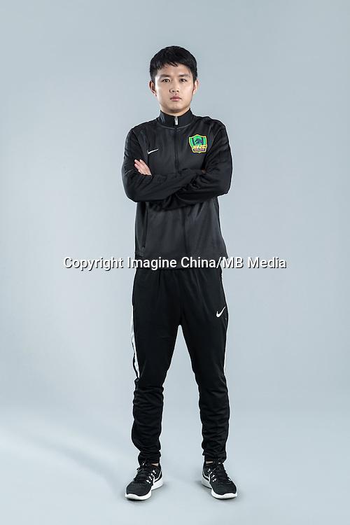 Portrait of Chinese soccer player Zhang Zhi of Guizhou Hengfeng Zhicheng F.C. for the 2017 Chinese Football Association Super League, in Guiyang city, southwest China's Guizhou province, 23 February 2017.