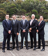 Business group portrait near Otto Restaurant, Woolloomooloo, Sydney.