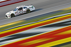March 2, 2018 - Las Vegas, Nevada, United States of America - March 02, 2018 - Las Vegas, Nevada, USA: Stephen Leicht (55) brings his race car down the front stretch during practice for the Boyd Gaming 300 at Las Vegas Motor Speedway in Las Vegas, Nevada. (Credit Image: © Chris Owens Asp Inc/ASP via ZUMA Wire)
