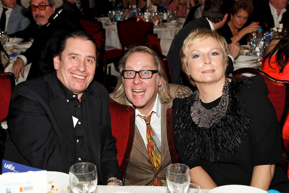 Jools Holland, Vic Reeves and Jennifer Saunders, the 2011 MITs Award. Held at the Grosvenor Hotel London in aid of Nordoff Robbins and the BRIT School. Monday, Nov.7, 2011