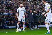 Leeds United defender Stuart Dallas (15) during the EFL Sky Bet Championship match between Leeds United and Sheffield Wednesday at Elland Road, Leeds, England on 11 January 2020.