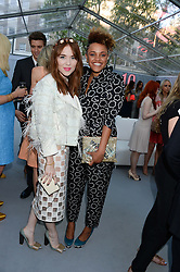 Left to right, ANGELA SCANLON and GEMMA CAIRNEY at the Glamour Women of the Year Awards in association with Pandora held in Berkeley Square Gardens, London on 4th June 2013.