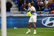 Goal Memphis Depay of Lyon during the French championship L1 football match between Olympique Lyonnais and Amiens, on April 14, 2018 at Groupama stadium in Decines Charpieu near Lyon, France - Photo Romain Biard / Isports / ProSportsImages / DPPI