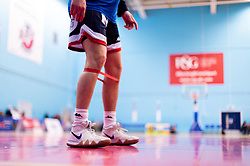Jordan Nicholls of Bristol Flyers prior to tip off - Photo mandatory by-line: Ryan Hiscott/JMP - 13/04/2019 - BASKETBALL - SGS Wise Arena - Bristol, England - Bristol Flyers v Manchester Giants - British Basketball League Championship