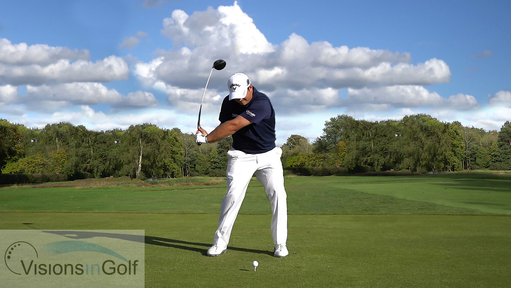 Patrick Reed<br /> High Speed Swing Sequence face on driver<br /> <br /> Golf Pictures Credit:  Mark Newcombe / www.visionsingolf.com