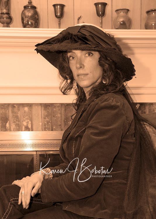 "Tamara McGonagle will portray Anna Samson Bradley in Judy Buswell's play ""I Have Been Busy All Day"" written from Anna's diaries from the 1890's.  (Karen Bobotas/for the Laconia Daily Sun)"