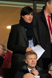"19.02.2014, Emirates Stadion, London, ENG, UEFA CL, FC Arsenal vs FC Bayern Muenchen, Achtelfinale, im Bild Joachim ""Jogi"" Loew auf der Tribuene beim Spiel zwischen dem FC Arsenal, Bayern Muenchen // during the UEFA Champions League Round of 16 match between FC Arsenal and FC Bayern Munich at the Emirates Stadion in London, Great Britain on 2014/02/19. EXPA Pictures © 2014, PhotoCredit: EXPA/ Eibner-Pressefoto/ Schueler<br /> <br /> *****ATTENTION - OUT of GER*****"
