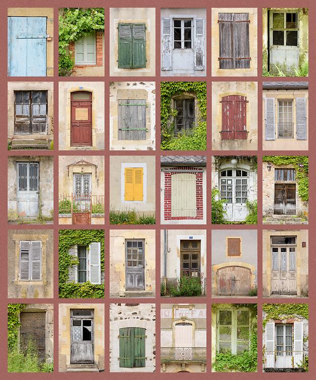 Burgundy houses panel