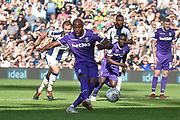 Stoke City striker (on loan from Wolverhampton Wanderers) Benik Afobe (9) misses from the penalty spot during the EFL Sky Bet Championship match between West Bromwich Albion and Stoke City at The Hawthorns, West Bromwich, England on 1 September 2018.