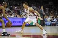 Delonte West of Cleveland.The Miami Heat lost to the host Cleveland Cavaliers 84-76 at Quicken Loans Arena, April 13, 2008...